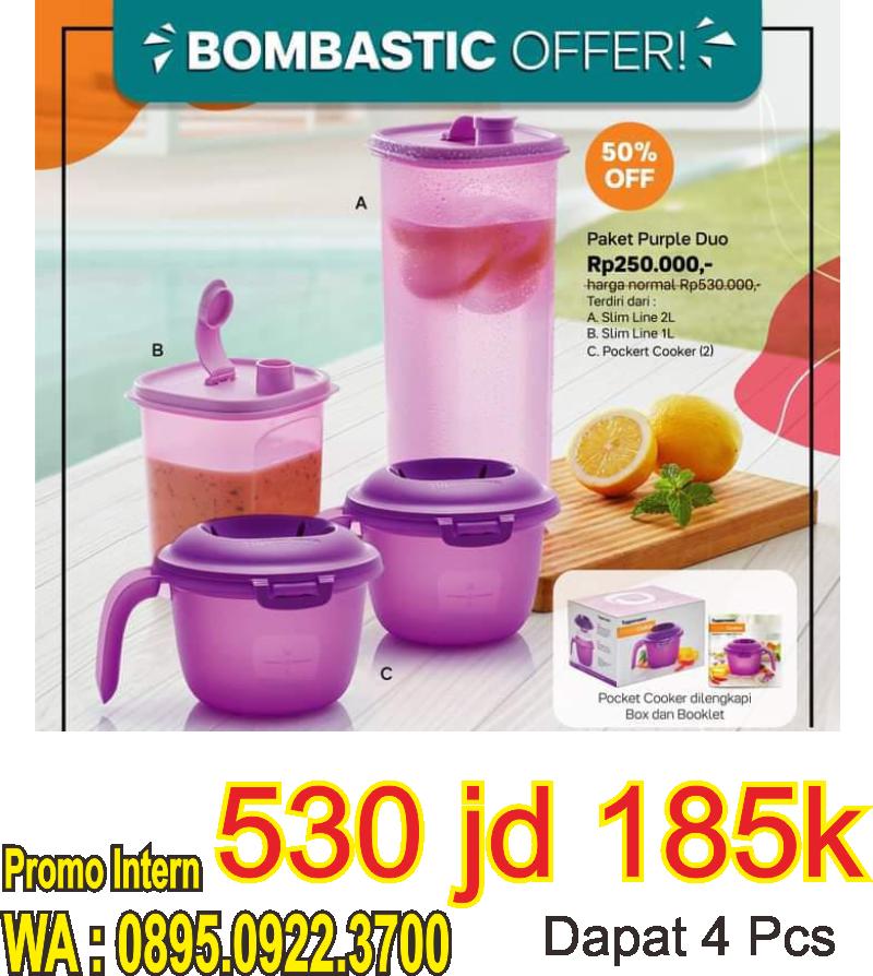 Paket Purple Duo Tupperware Promo Bulan Juni 2021