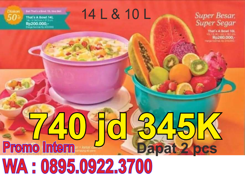 That Bowl Mangkok Jumbop tupperware Promo Bulan Juni 2021