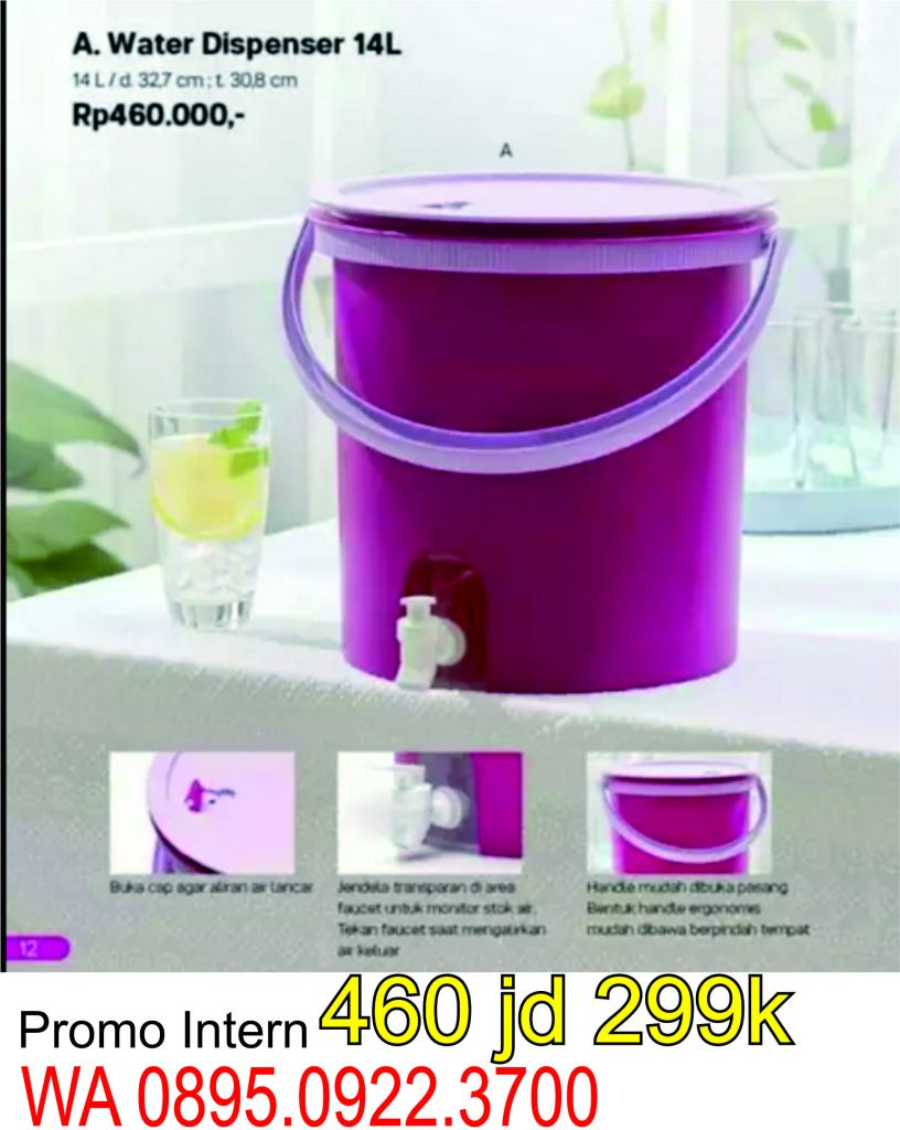 water dispenser tupperware jumbo 14 L