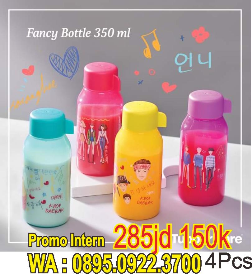 k pop Fancy Bottle 350 ml Botol Tupperware Promo Bulan Juni 2021