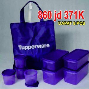 freshness collection set Tupperware warna ungu