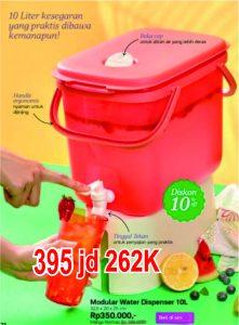 water dispense 10 L Tupperware Wadah Air panas
